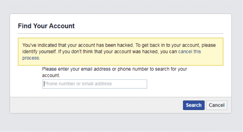 My Facebook account hacked