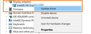 update graphic drivers