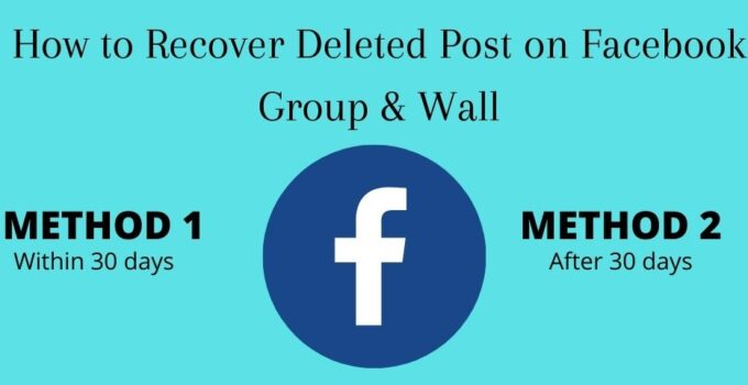 How to Recover Deleted Post on Facebook Group & Wall